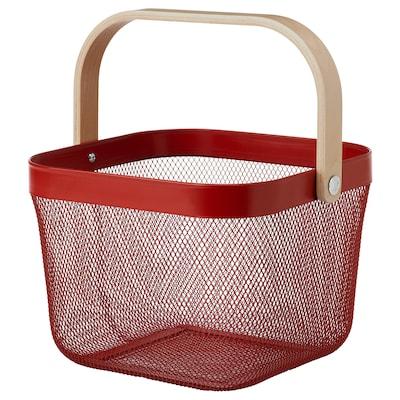 RISATORP Cistell, vermell, 25x26x18 cm