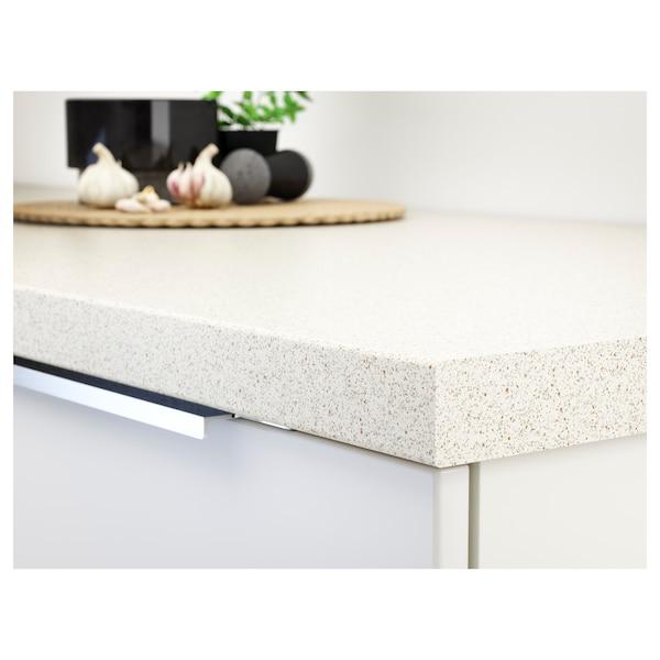 SÄLJAN Taulell a mida, blanc efecte pedra/laminat, 63.6-125x3.8 cm