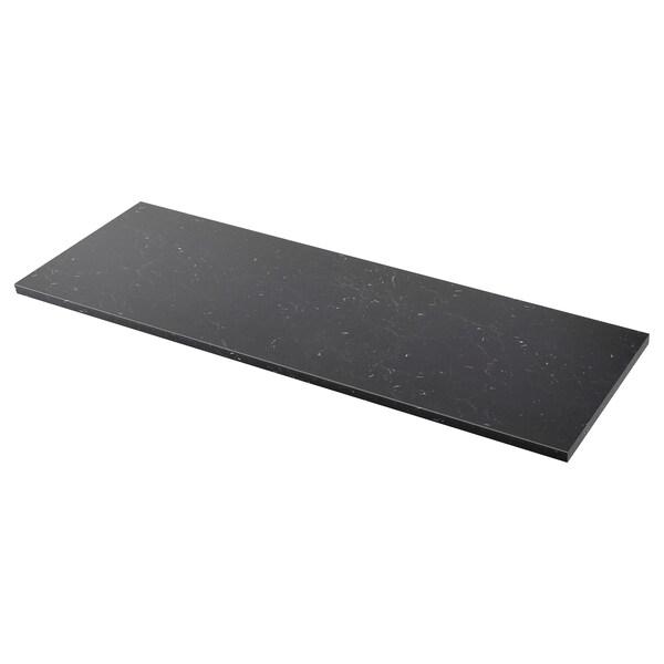 SÄLJAN Taulell, Negre efecte marbre/laminat, 186x3.8 cm