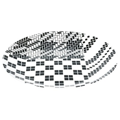 SAMMANKOPPLA Plat, blanc/negre, 25 cm