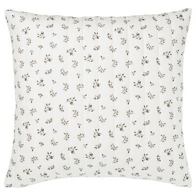 SANDLUPIN Funda de coixí, blanc/gris, 65x65 cm