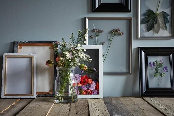 SILVERHÖJDEN Estructura, gris argentat, 40x50 cm