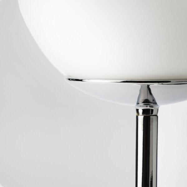 SIMRISHAMN Llum de taula, cromat/blanc òpal vidre, 42 cm