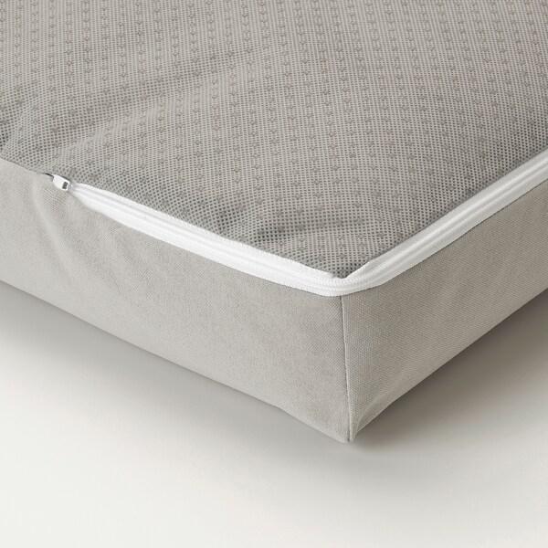 SOLLERÖN Sofà modular, 4 places, exterior, amb reposapeus gris fosc/Kuddarna gris