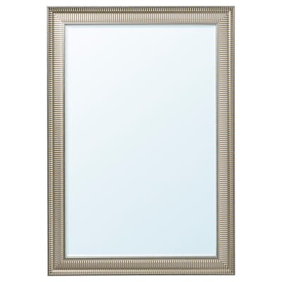SONGE Mirall, gris argentat, 91x130 cm