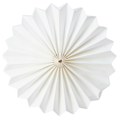 STRÅLA Pantalla per a llum, origami/blanc, 34 cm