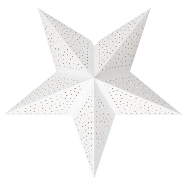 STRÅLA Pantalla per a llum, puntejat/blanc, 48 cm