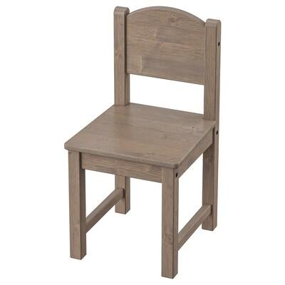 SUNDVIK Cadira per nens, marró grisenc