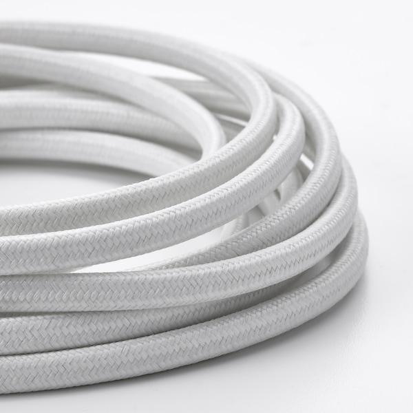 SYMFONISK Cable elèctric, teixit/blanc, 3.5 m