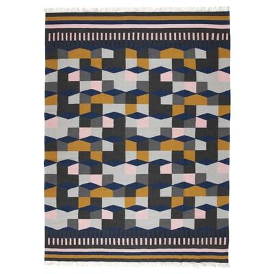 TÅRBÄK Catifa, llisa, fet a mà/multicolor, 170x240 cm