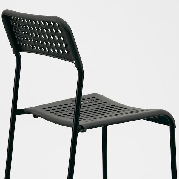 TÄRENDÖ / ADDE Taula i 4 cadires, Negre, 110 cm
