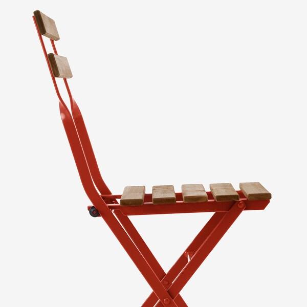 TÄRNÖ Cadira, exterior, plegable/vermell tint marró clar