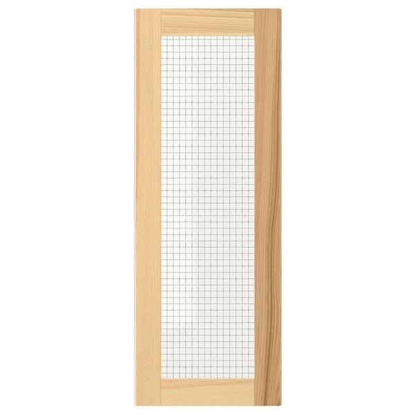 TORHAMN Porta de vidre, natural freixe, 30x80 cm