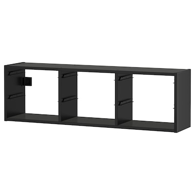 TROFAST Emmagatzematge de paret, Negre, 99x21x30 cm