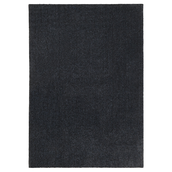 TYVELSE Catifa, pèl curt, gris fosc, 170x240 cm