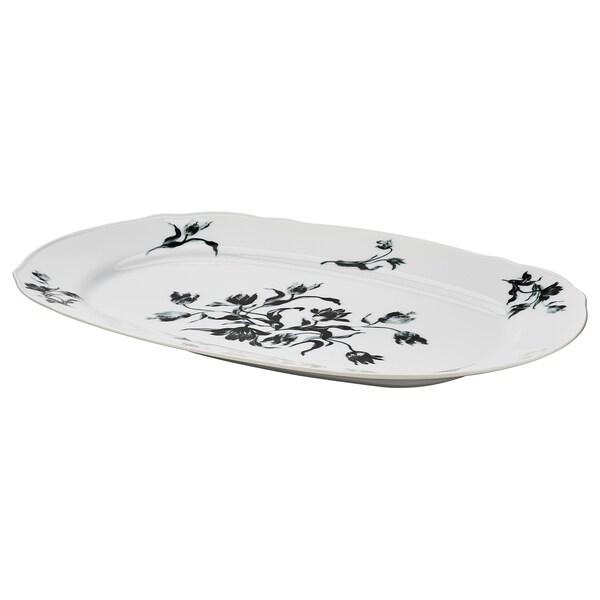 UPPLAGA Safata, blanc/amb disseny, 44x30 cm
