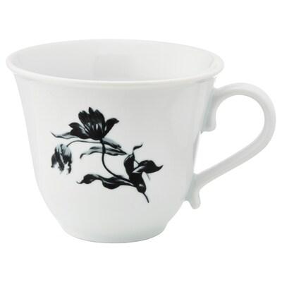 UPPLAGA Tassa, blanc/amb disseny, 45 cl