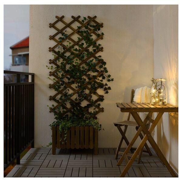 UTSUND Garlanda llum LED 12, exteriors/a piles Negre