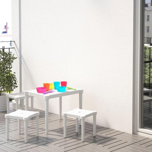 UTTER Taula per nens, interior/exterior/blanc