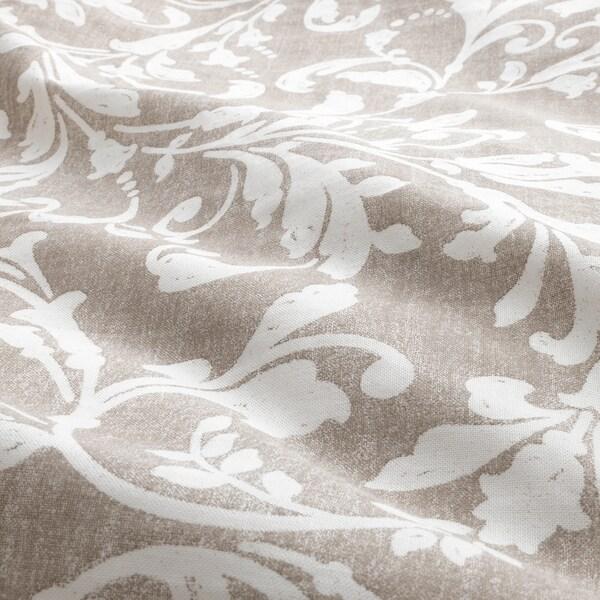 VÅRBRÄCKA Funda nòrdica i 2 fundes de coixí, beix/blanc, 240x220/50x60 cm