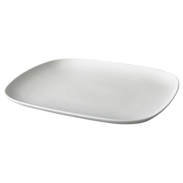 VÄRDERA Plat, blanc, 31x26 cm