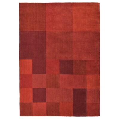 VESTERBORG Catifa, pèl curt, fet a mà vermell, 170x240 cm