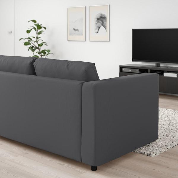 VIMLE Sofà llit, 3 places, Hallarp gris