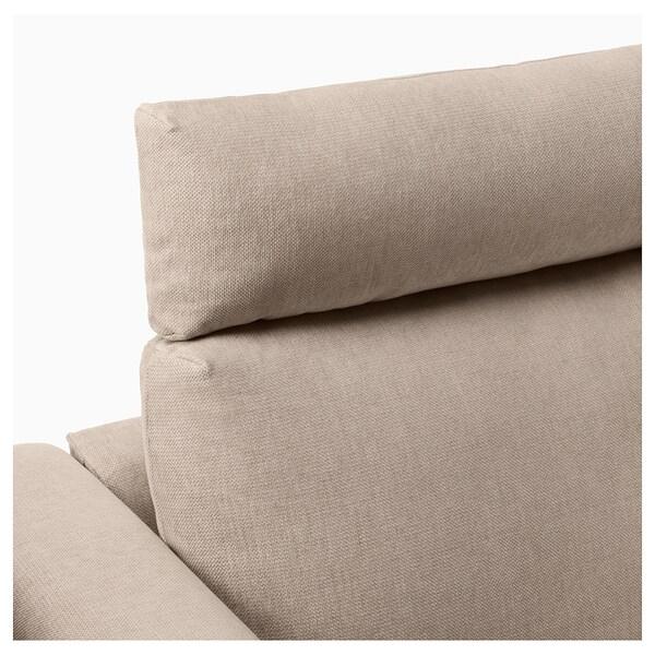 VIMLE Sofà raconer 4 seients, +extrem obert amb reposacaps/Tallmyra beix