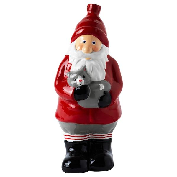 VINTER 2020 Guarniment, Pare Noel vermell, 25 cm