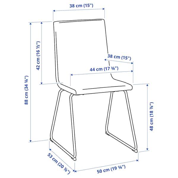 VOLFGANG Cadira, cromat/Bomstad blanc