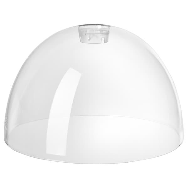 ACKLINGA Pendant lamp shade, transparent, 38 cm
