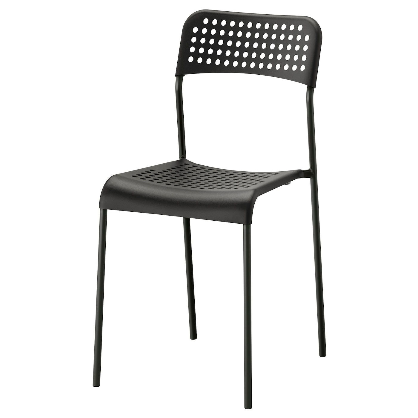 IKEA ADDE chair You can stack the chairs, so they take less space when you're not using them.