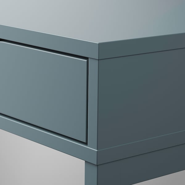 ALEX Desk, grey-turquoise, 132x58 cm