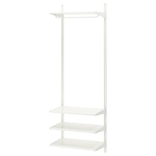 ALGOT wall upright/shelves/rod white 66 cm 41 cm 197 cm