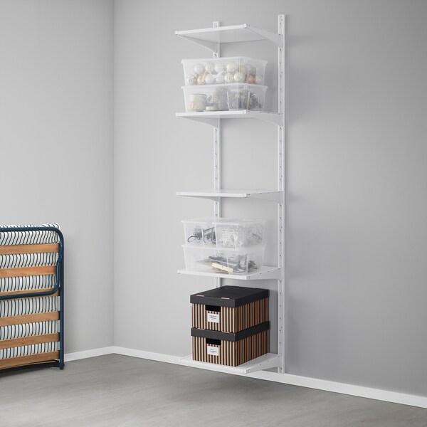 ALGOT wall upright/shelves white 46 cm 41 cm 197 cm