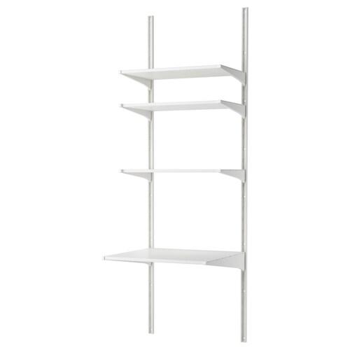 ALGOT wall upright/shelves white 66 cm 61 cm 197 cm