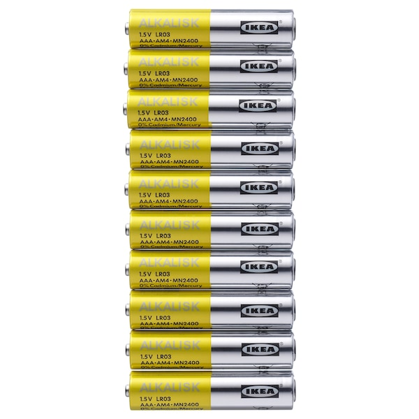 ALKALISK Battery alkaline, LR03 AAA 1.5V