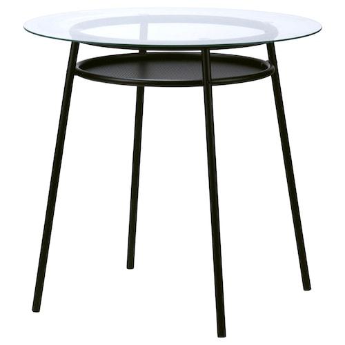 ALLSTA table glass/metal black 74 cm 78 cm 100 kg