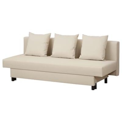 ASARUM 3-seat sofa-bed, beige