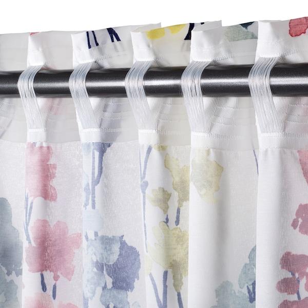ASKARIA Curtains, 1 pair, flower multicolour, 145x150 cm