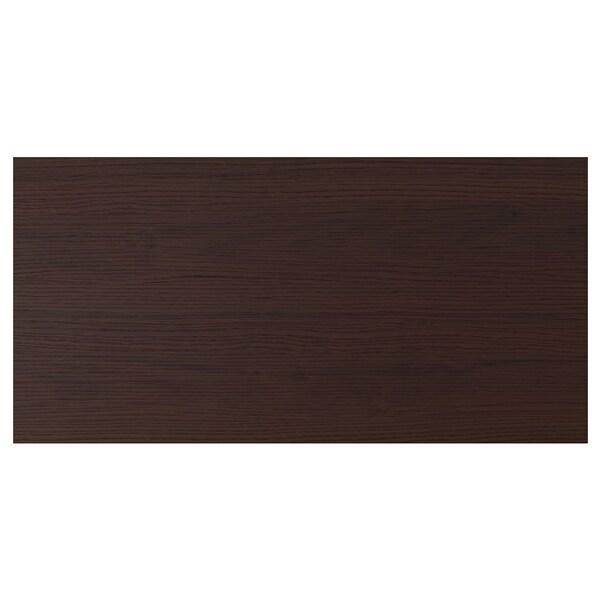 ASKERSUND Drawer front, dark brown ash effect, 80x40 cm