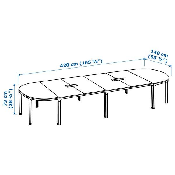 BEKANT conference table white stained oak veneer/white 420 cm 140 cm 73 cm 100 kg