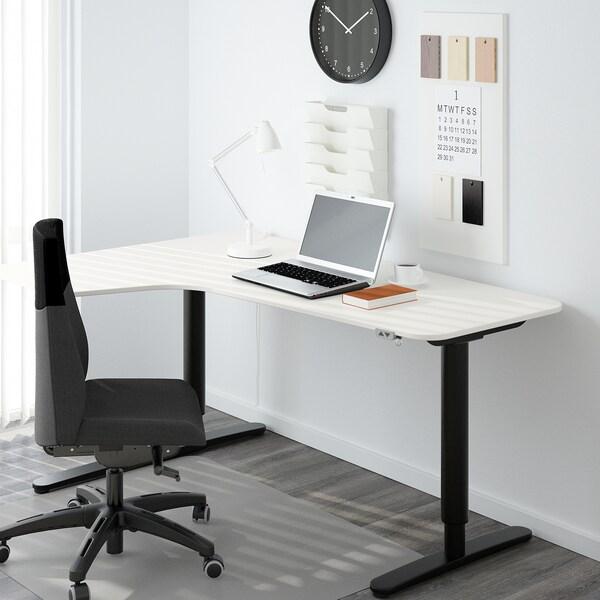BEKANT left-hand corner table top white 160 cm 110 cm 1.6 cm