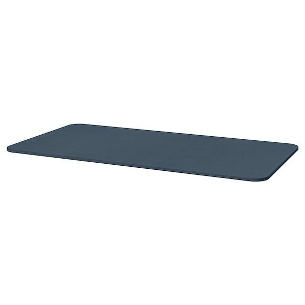 BEKANT table top linoleum blue 160 cm 80 cm 1.6 cm