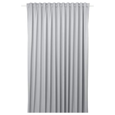 BENGTA Block-out curtain, 1 length, light grey, 210x300 cm