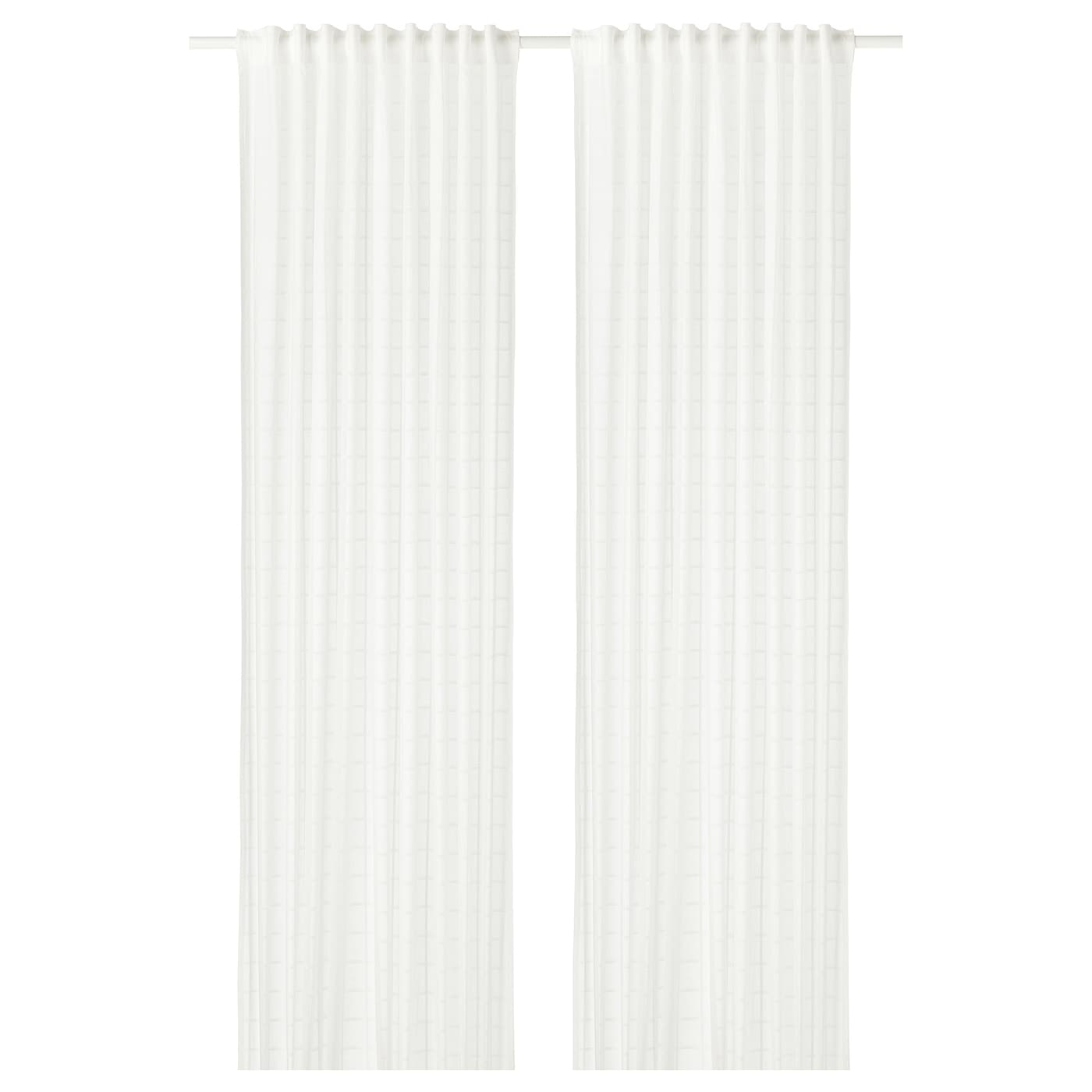 bergitte sheer curtains 1 pair white 140 x 300 cm ikea