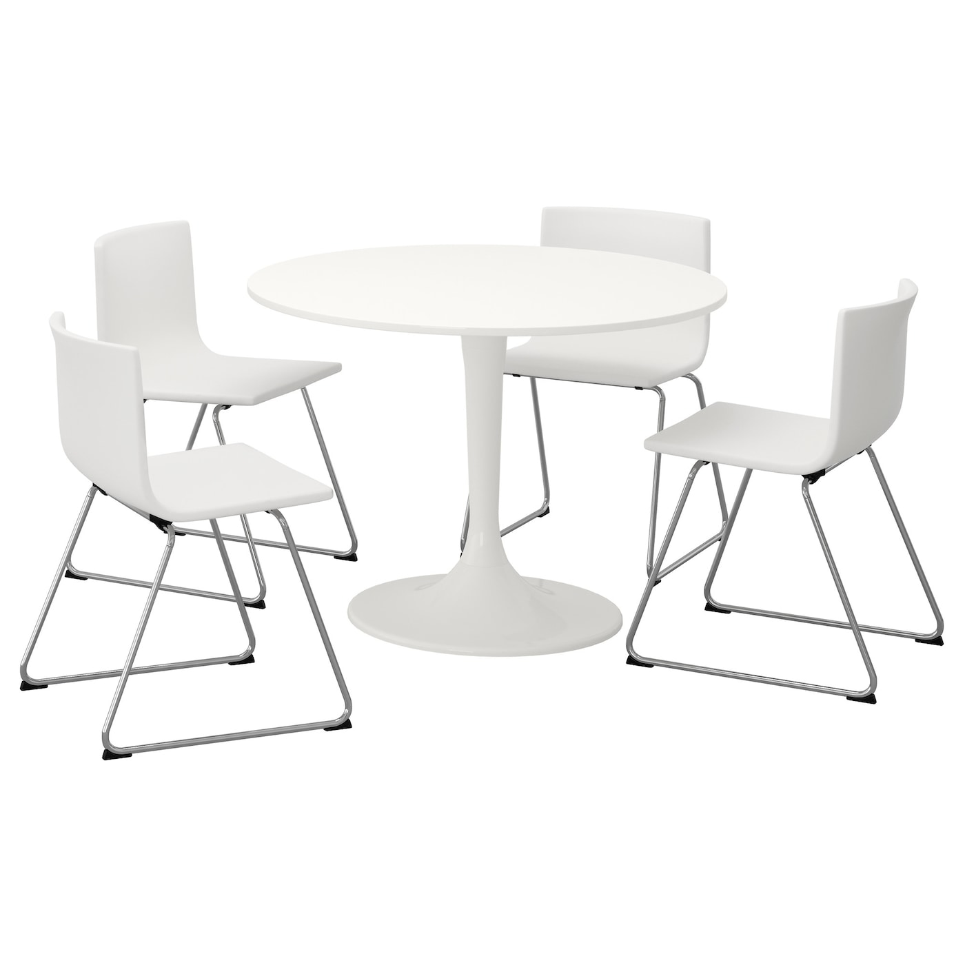 IKEA BERNHARD/DOCKSTA Table And 4 Chairs