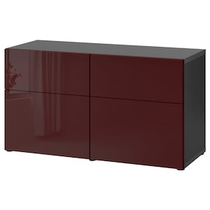 Colour: Black-brown selsviken/high-gloss dark red-brown.