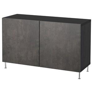 Colour: Black-brown kallviken/stallarp/dark grey concrete effect.