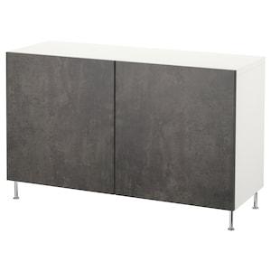 Colour: White kallviken/stallarp/dark grey concrete effect.